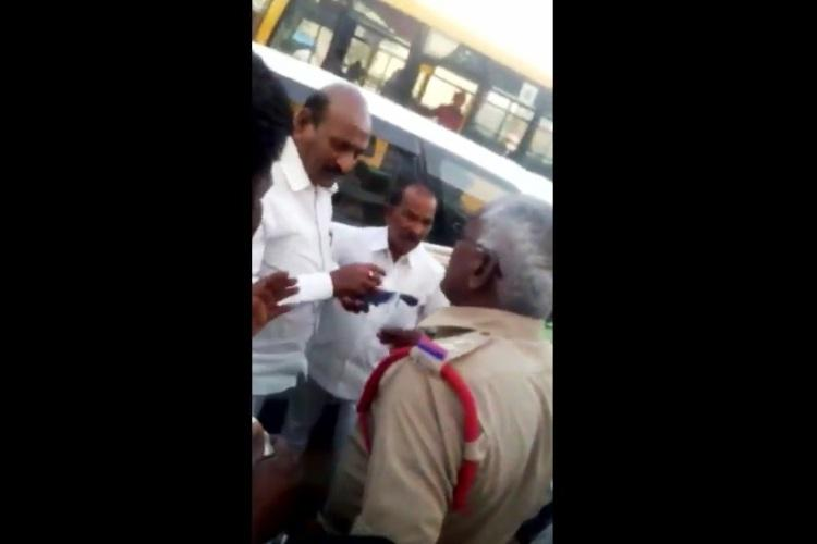 Watch TRS MLA supporters allegedly threaten police officer for doing duty