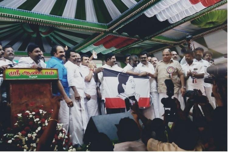 TTV Dhinakaran launches Amma Makkal Munnetra Kazhagam with Jaya on flag