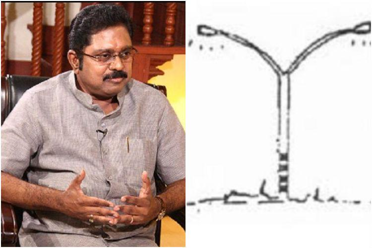 Electric pole symbol manipulated to resemble two leaves TTV Dhinakaran files EC complaint