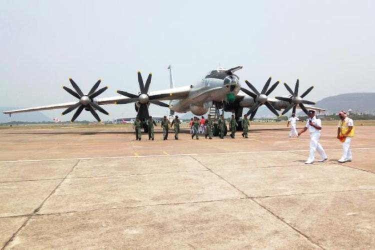 In Images TU-142M arrives at Vizag after last flight to be converted into museum
