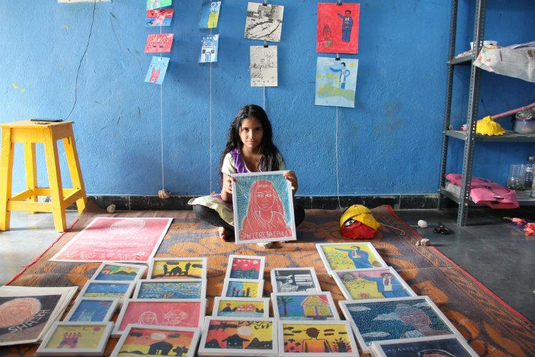 Inspired by Savitribai Phule Hyd teacher educates underprivileged kids with art
