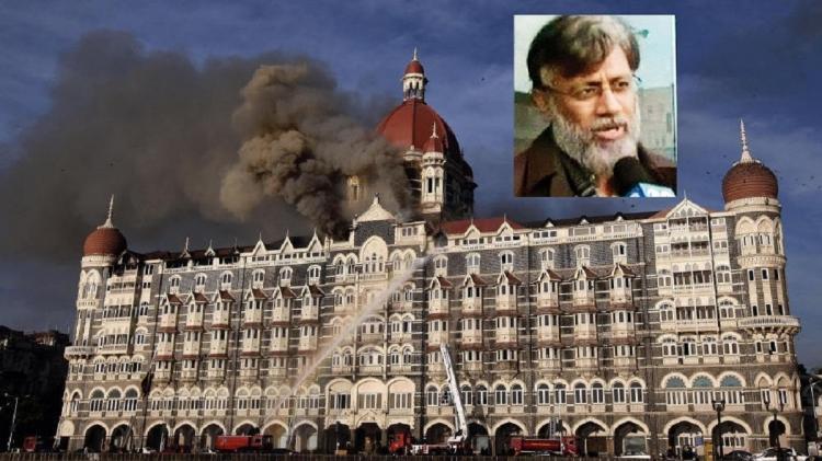 The Taj on fire during the Mumbai terror attack