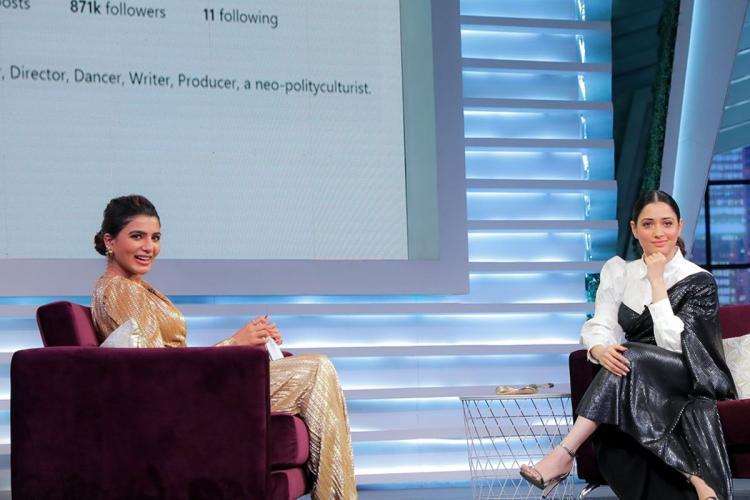 Tamannaah recently appeared as Samantha Akkinenis guest on Sam Jam