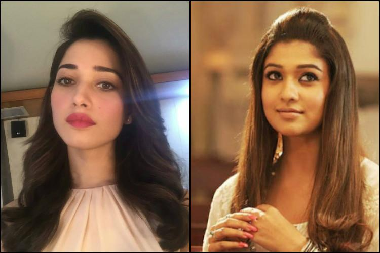 Director says he cuts heroines clothes by length Tamannaah and Nayanthara show him whos boss