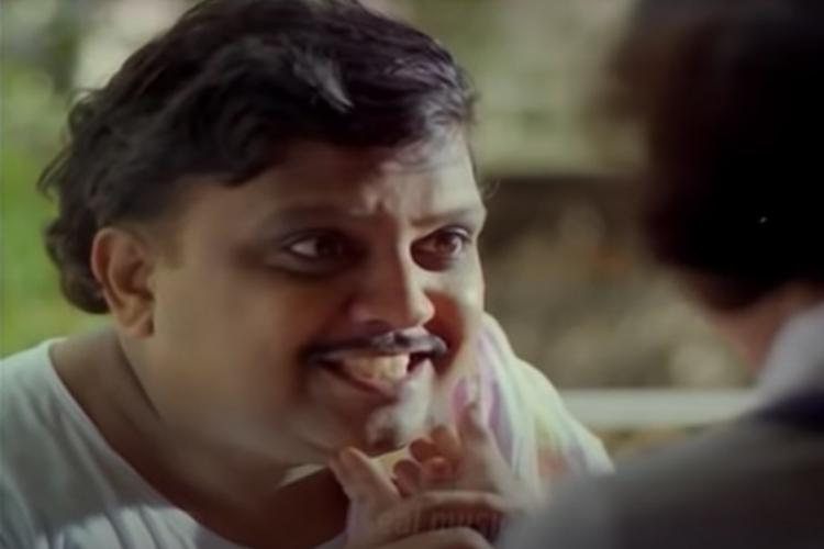 A screengrab from a movie acted by SP Balasubrahmanyan