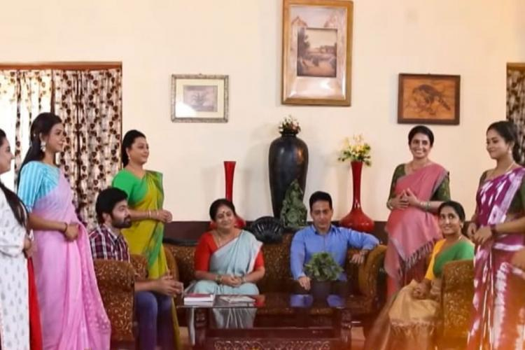 The cast of Vijay TV's Baakiyalakshmi and Pandian Stores are seen together in a crossover episode