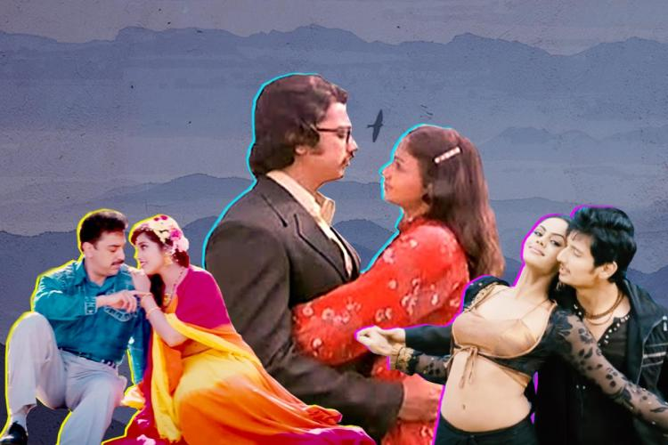 Collage of Tamil songs shot in foreign locations