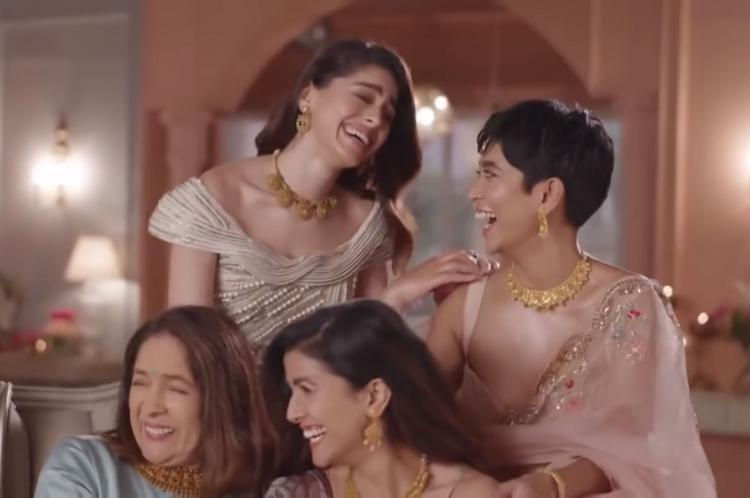 Neena Gupta Sayani Gupta Alaya F and Nimrat Kaur in a Tanishq ad