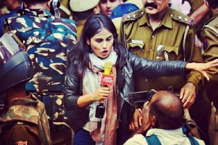 India Today TV journalist Tanushree Pandey