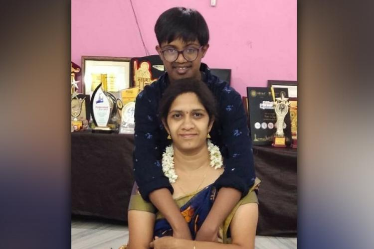 Bhavani and her son Tapash