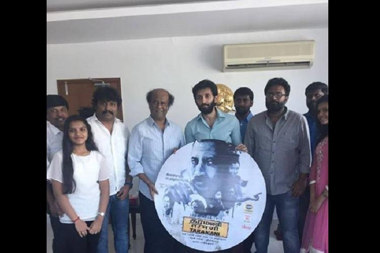 Superstar Rajinikanth releases audio album of Director Rams Taramani