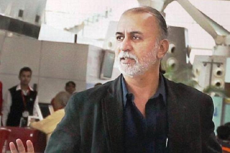 Tarun Tejpal who has been acquitted of rape charges on May 21 2021 in a black shirt