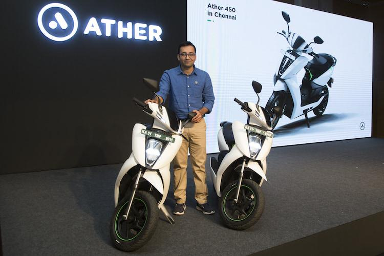 Ather Energy expands to Chennai launches Ather 450 in its second market