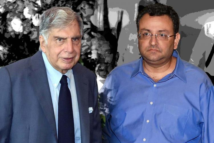 Tata Group Chairman emeritus Ratan Tata and Cyrus Mistry of SP Group