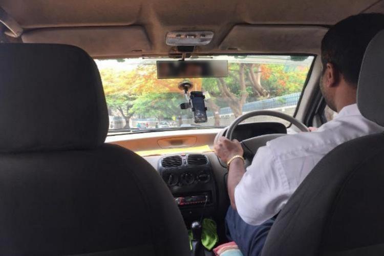 A man driving a cab