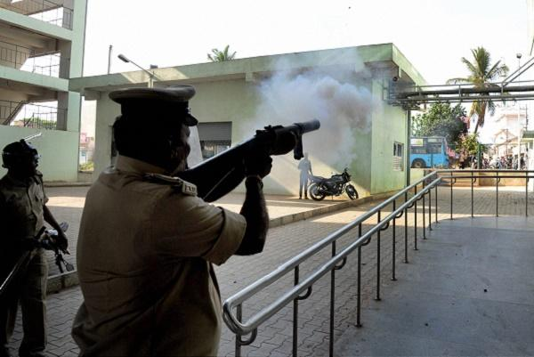 Dousing public anger When Bengaluru police have tear-gassed protesters in the past