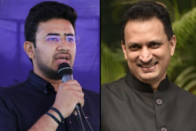 BJP MPs Ananth Kumar Hegde and Tejasvi Surya