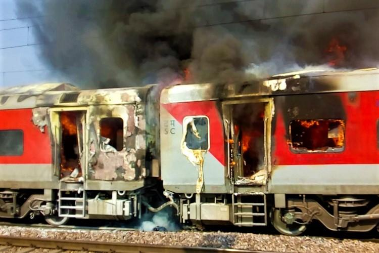 Fire breaks out in Telangana Express in Haryana no casualties reported