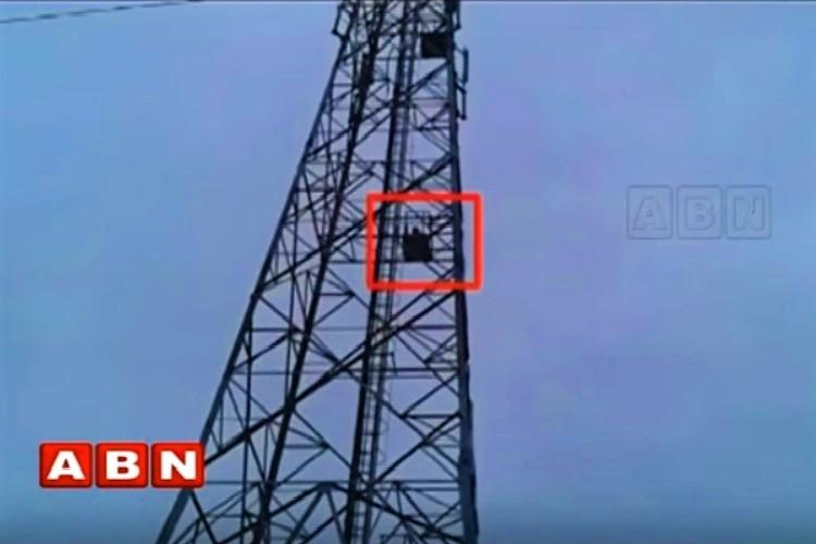 Telangana woman climbs tower alleging cheating brought down after 3-hour drama