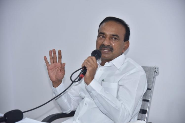 Telangana Heath Minister Eatala Rajender