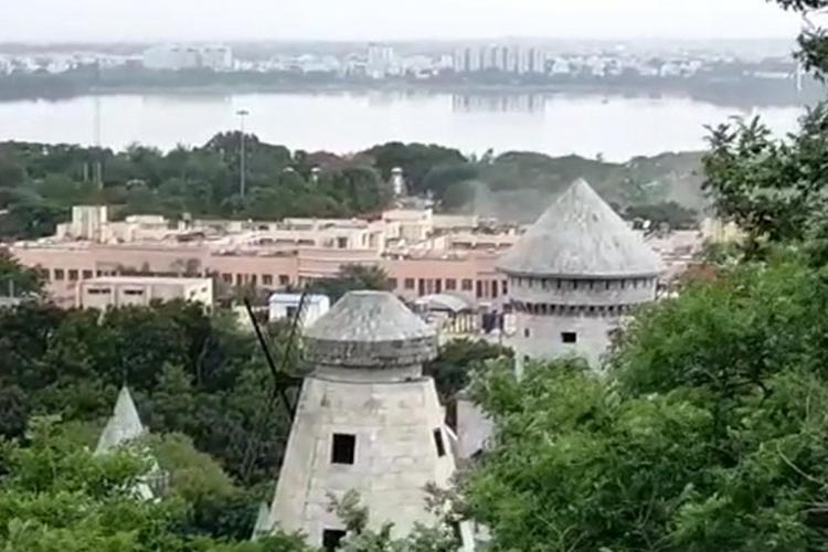 Long view of Telangana Secretariat