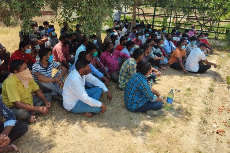 A group of labourers from Telangana in Iraq are waiting to return home