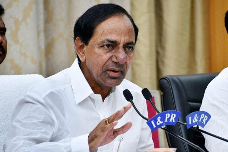 File photo of Telangana CM KCR addressing the media
