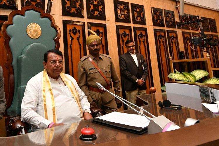 Pocharam Srinivas Reddy takes charge as Telangana Speaker