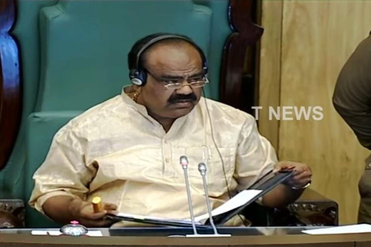 Two TDP MLAs suspended from Telangana Assembly for disrupting Governors address