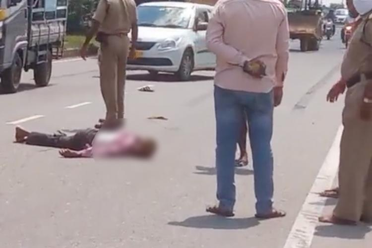 Man knocked down by Minister's convoy