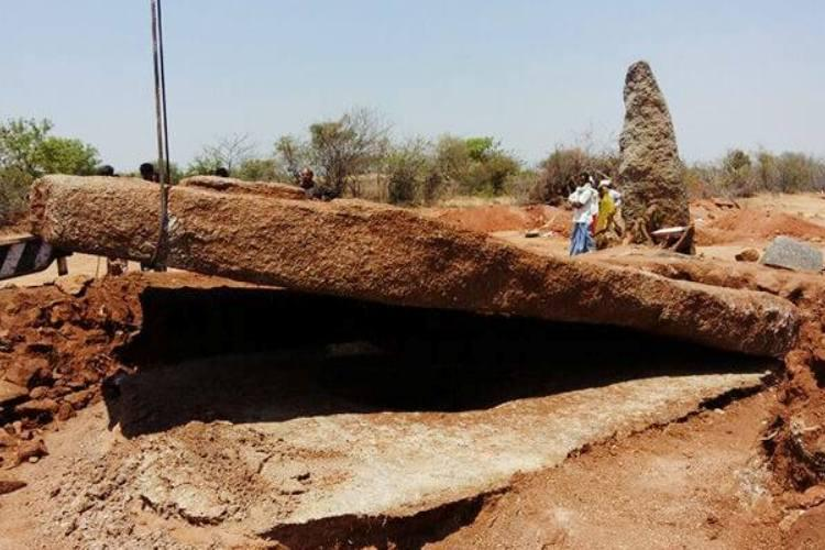 A rare find Archaeologists find south Indias largest capstone in Telangana