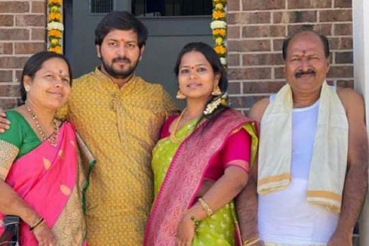 Family picture of a Telangana family dressed in finery three of whom died in a Hyd road accident