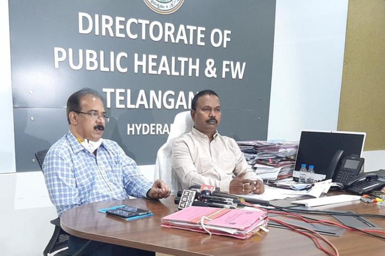 The Director of Public Health and Family Welfare Dr G Srinivasa Rao