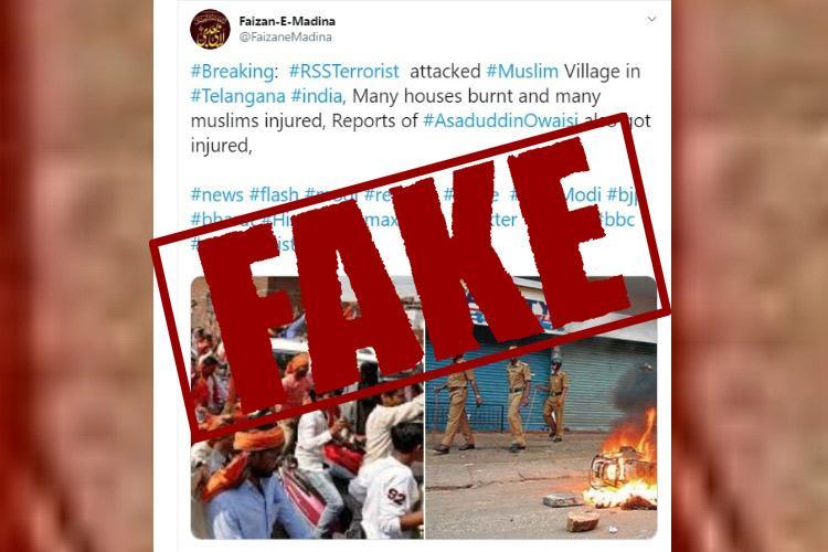 RSS attacked Muslim village in Telangana alleges tweet cops debunk claim
