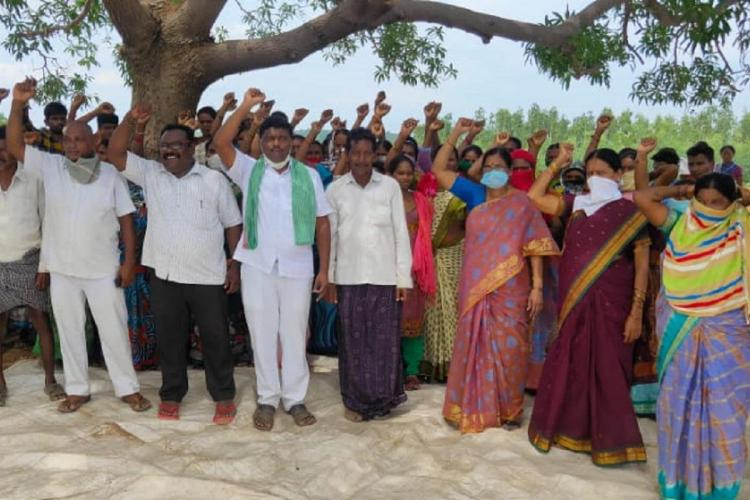 Forest dwellers protest in Telangana