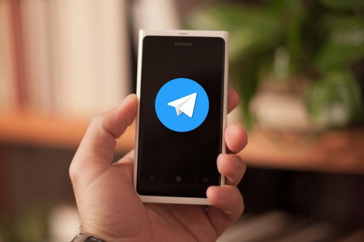 Telegram app on phone