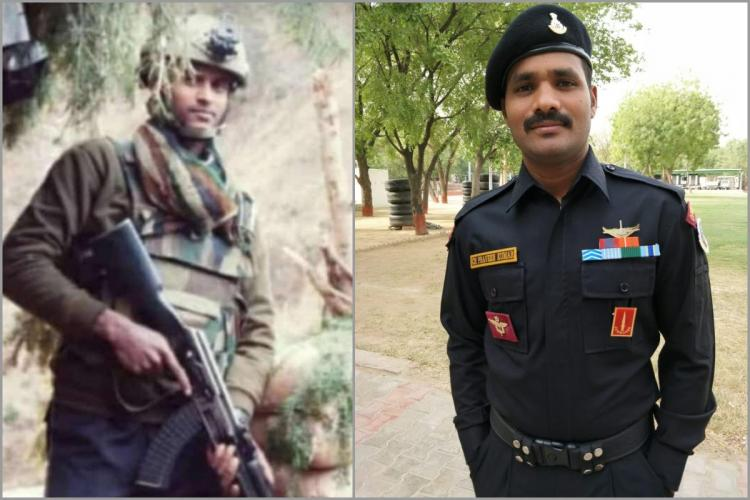 A collage of Army Jawans Ryada Mahesh and Praveen Kumar