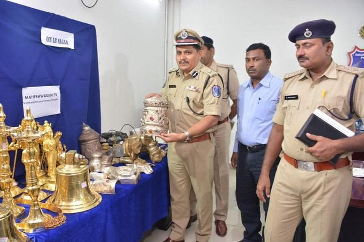 Hyd cops bust gang for temple thefts Idols jewellery worth Rs 26 lakh recovered