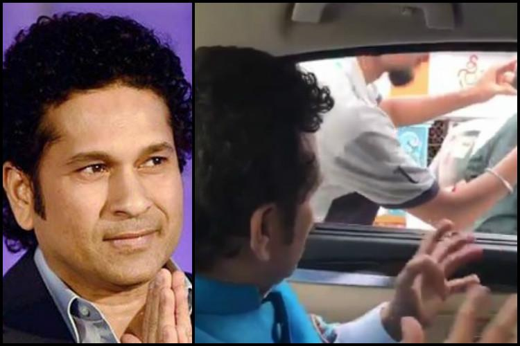 Watch Sachin Tendulkar doles out helmet advice to Hyderabadis on the road