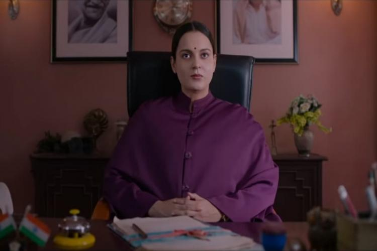 Kangana in purple suit as Jayalalithaa in Thalaivi trailer