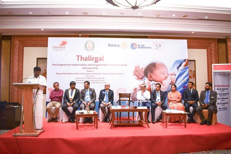Project Thalirgal launched by Kauvery Hospital for free brain and spine surgeries for infants