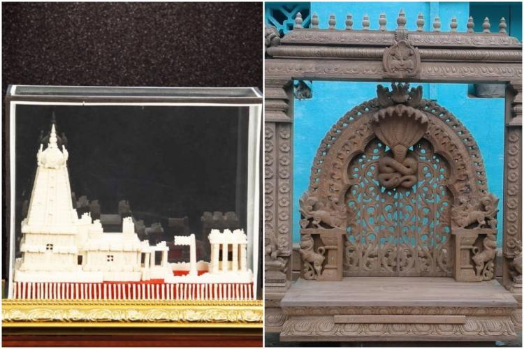 Thanjavur Pith Work and Arumbavur Wood Carvings collage