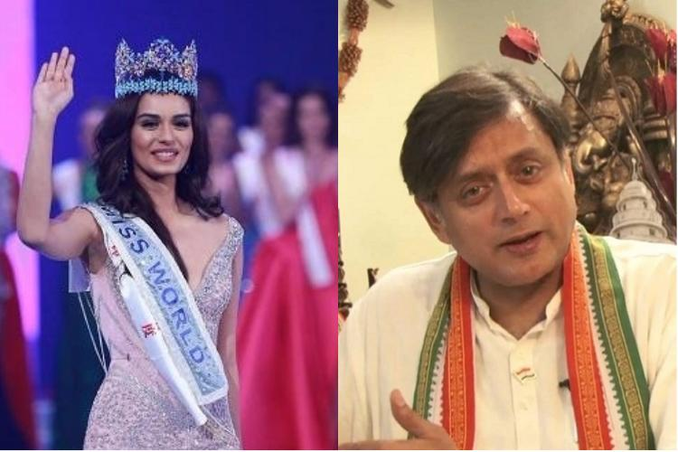 BJP slams Sashi Tharoor for his remark against Miss World Manushi Chhillar
