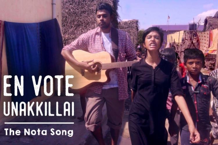 En Vote Unakkillai Watch the NOTA song by Put Chutney