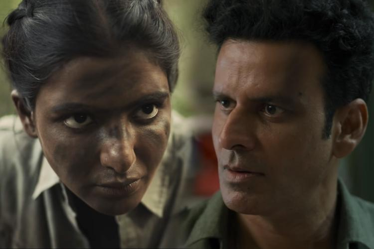 Samantha and Manoj Bajpayee in Family Man 2 poster