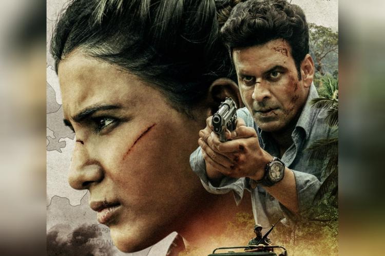 Samantha in a militant-like avatar Manoj Bajpayee seen as spy holding a gun