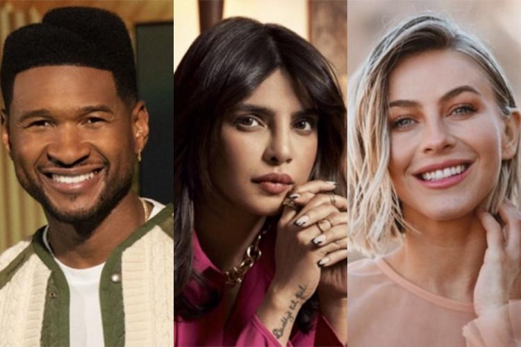 Collage of Usher, Priyanka and Julianne