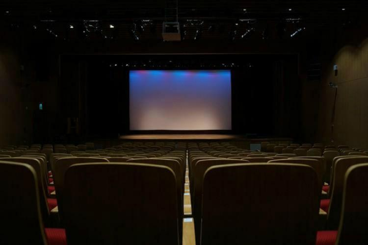 An empty theatre hall