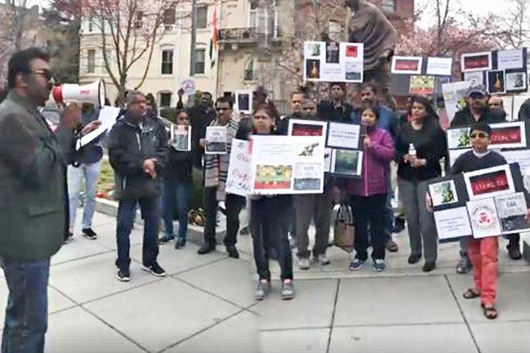 Tamil diaspora in Washington protests against Sterlite copper plant in Thoothukudi