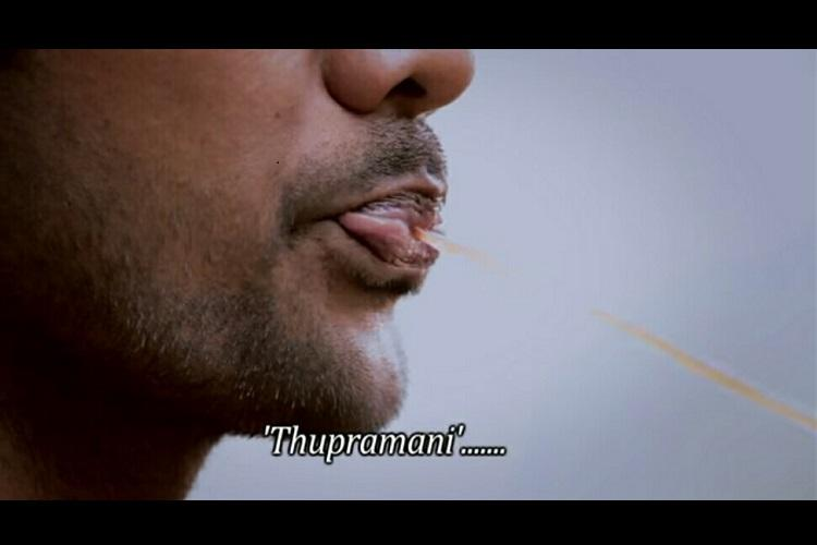 Nothing to spit at Thupramani thupadhanee a Tamil song that asks you to stop spitting in public places